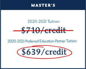 save 10% on Messiah University tuition as a Preferred Education Partner